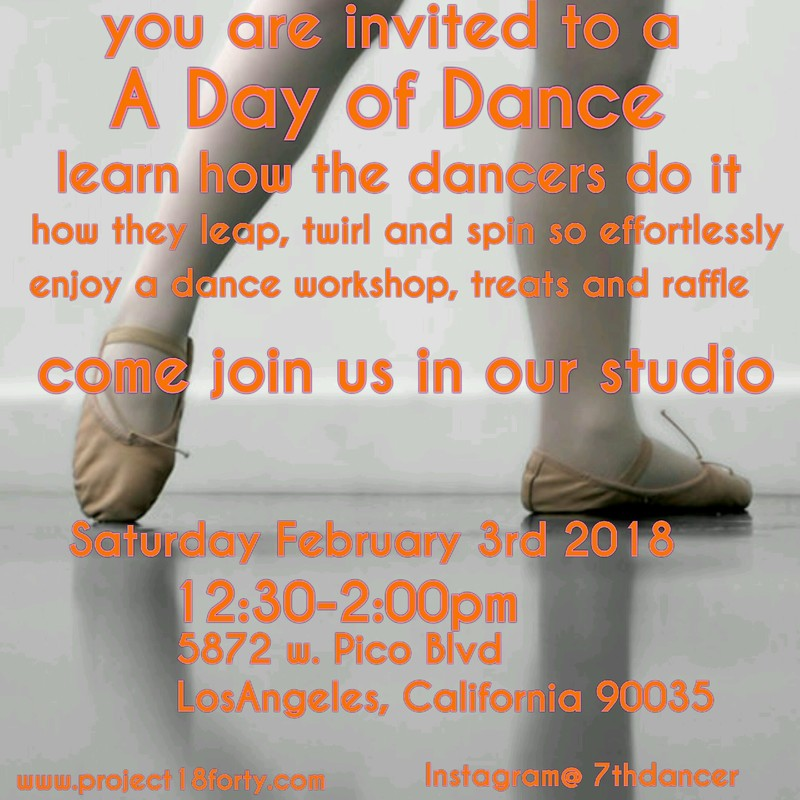 Dance Workshop, February 3rd