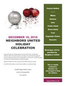 Neighbors United Holiday Celebration